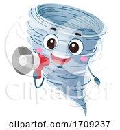 Mascot Tornado Drill Megaphone Illustration