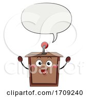 Mascot Speech Lectern Speech Bubble Illustration