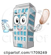 Mascot Cleaning Service Dusting Illustration