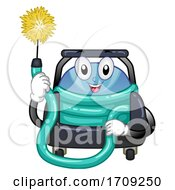 Mascot Duct Cleaner Machine Illustration
