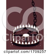 Poster, Art Print Of Bear Trap Wildlife Crime Illustration