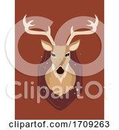 Deer Head Wall Decor Illustration