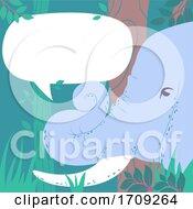 Elephant Speech Bubble Illustration
