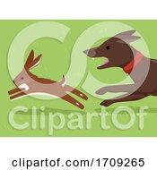 Poster, Art Print Of Hare Coursing Wildlife Crime Illustration