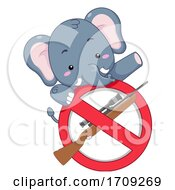Elephant Stop Killing Illustration