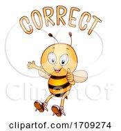 Mascot Bee Correct Illustration