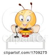 Mascot Bee Quiz Bee Illustration
