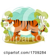 Tiger Wildlife Illustration