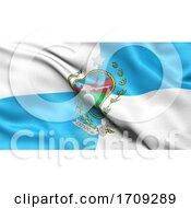 Rio De Janeiro Flag Waving In The Wind Brazilian Federate State Flag