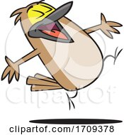 Cartoon Happy Lark Bird