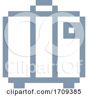 Poster, Art Print Of Suitcase Brief Case Pixel 8 Bit Game Art Icon