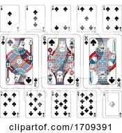 Poster, Art Print Of Playing Cards Spades Red Blue And Black
