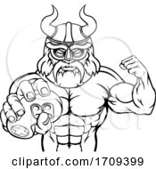 Viking Gamer Gladiator Warrior Controller Mascot