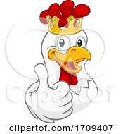 Poster, Art Print Of King Chicken Rooster Cockerel Bird Crown Cartoon