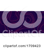 Banner With Topography Contour Design