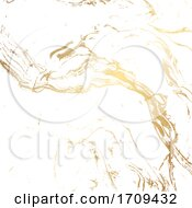 Marble Texture Background In Gold And White
