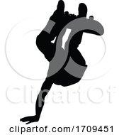 Poster, Art Print Of Skateboarder Skater Silhouette