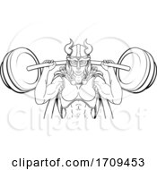 05/02/2020 - Viking Warrior Woman Weightlifter Lifting Barbell