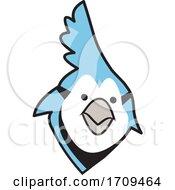 Blue Jays Bird School Mascot Face