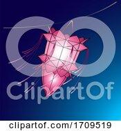 Pink Vesak Lantern