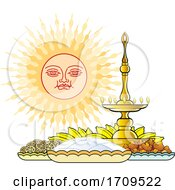 Sinhala New Year Sun And Foods