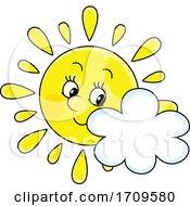 Sun Mascot And Cloud