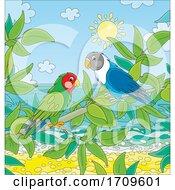 Parrots On A Beach