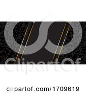 Abstract Banner Design In Gold And Black
