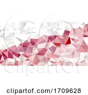 Banner Template With A Low Poly Geometric Design