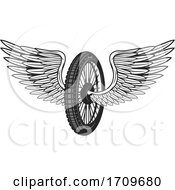 Winged Motorcycle Tire