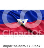 3d Illustration Of The Flag Of Haiti Waving In The Wind