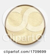 Leather Circular Border Whit Inner Copy Space Matenial