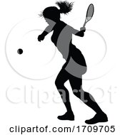 05/05/2020 - Tennis Silhouette Sport Player Woman