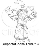 05/05/2020 - Wizard Merlin Cartoon Coloring Book Page