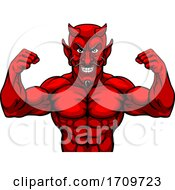 05/05/2020 - Devil Sports Mascot Cartoon Character