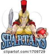 Poster, Art Print Of Spartan Trojan Gladiator Cricket Warrior Woman