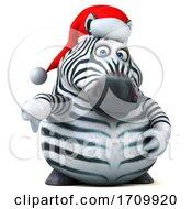05/26/2020 - 3d Zebra On A White Background
