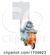 3d White Monkey Yeti On A White Background
