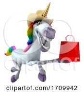 05/26/2020 - 3d Unicorn On A White Background