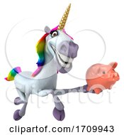 3d Unicorn On A White Background