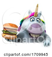 05/26/2020 - 3d Chubby Unicorn On A White Background