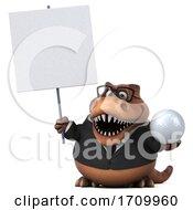 3d T Rex Dinosaur On A White Background