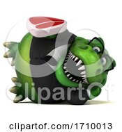 Poster, Art Print Of 3d T Rex Dinosaur On A White Background