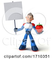 3d White Male Manga Super Hero On A White Background by Julos