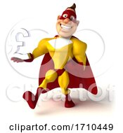 3d Buff White Male Red And Blue Super Hero On A White Background