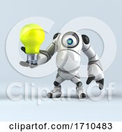 05/29/2020 - 3d Round Robot Character On A Shaded Background