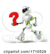 05/29/2020 - 3d Green And White Robot On A White Background