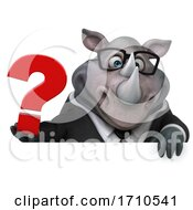 05/29/2020 - 3d Business Rhinoceros On A White Background