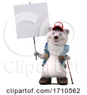 05/29/2020 - 3d Backpacking Polar Bear On A White Background