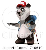 05/29/2020 - 3d Panda Backpacker On A White Background